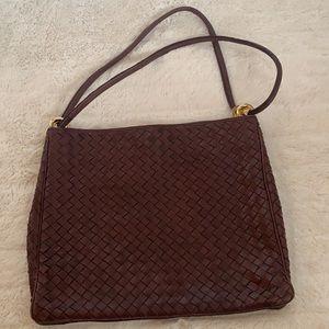Intrecciato woven leather bag